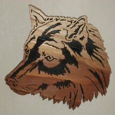 Wolf Scroll Saw Patterns Intricate scroll saw artwork.