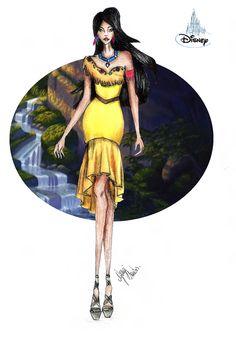 CROQUI DE MODA: Pocahontas, Disney. #CROQUIANDO
