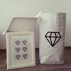 Diamond paperbag, diamond poster