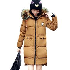 2017 New Winter Jacket Women Coat Warm Slim Thick Long Parkas Good Quality Color Fur Collar Hooded For Women Coats Female Jacket Click picture for details Winter Jackets Women, Coats For Women, Clothes For Women, Warm Jackets, Padded Jacket, Fur Jacket, Long Parka, Womens Parka, Cotton Jacket