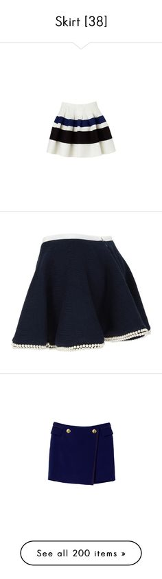 """""""Skirt [38]"""" by gdavilla ❤ liked on Polyvore featuring skirts, mini skirts, bottoms, saias, gonne, women, blue skirt, sacai luck, embroidered skirt and summer skirts"""