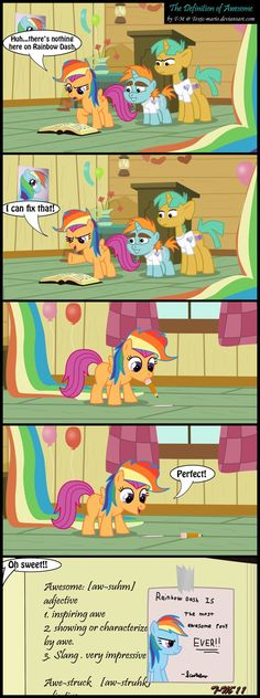 Yes, because Rainbow Dash should be in every definition of AWESOME (and im going to do that to my dictionary)