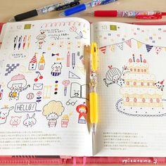 埋め込み Girls Night Crafts, Craft Night, Pen Illustration, Illustrations, Study Time Table, Cute Handwriting, Cute Doodles, Hobonichi, Smash Book