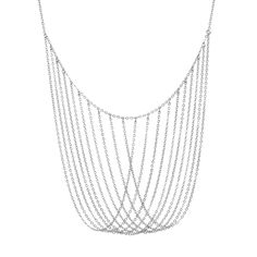 Our Keaton necklace exudes elegance. Available in gold & silver