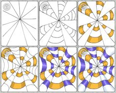 Op Art ideas by Tina Kejlberg. Great tangle ideas. Good use of shading for rounded feel. PLUS More Op Art ideas here. Use translator if needed. .