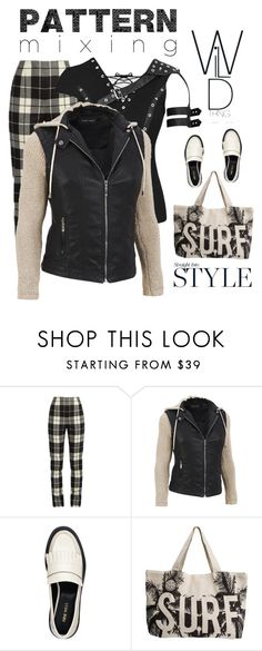 """""""Pattern Mixing"""" by nightowl59 ❤ liked on Polyvore featuring MaxMara, Nine West, Rip Curl, patternmixing and plus size clothing"""