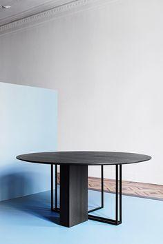 Modern dining table | round dark wood table | www.bocadolobo.com/ #luxuryfurniture #designfurniture