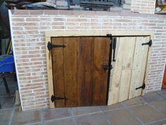 Puertas hechas con palet Western Decor, Barbacoa, Ideas Para, Tall Cabinet Storage, Sweet Home, Patio, Outdoor, Furniture, Home Decor
