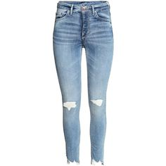 Skinny Ankle Jeans $39.99 ($40) ❤ liked on Polyvore featuring jeans, pants, bottoms, blue skinny jeans, skinny ankle jeans, torn skinny jeans, high waisted jeans and high rise skinny jeans