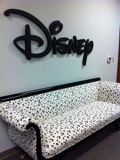 Disney Offices with 101 Dalmatian Sofa