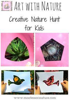 Montessori Nature: Art with Nature - Creative Nature Hunt for Kids | #kidsactivities #kidsart #montessori #outdoors #activities