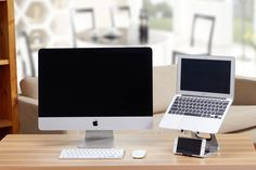 The iMac's best companion. The Apex Stand + MacBook Pro + iPhone 6