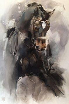 Click Visit link for more info Watercolor Horse, Watercolor Animals, Watercolor Paintings, Pretty Horses, Horse Love, Beautiful Horses, Horse Drawings, Art Drawings, Horse Artwork