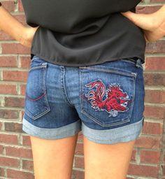 University of South Carolina Denim Shorts $88.00