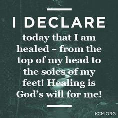 Amen I declare my healing thank you  Jesus