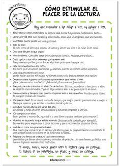Un listado de consejos fáciles de aplicar en casa o en el colegio para estimular el placer de leer o de la lectura desde pequeños.