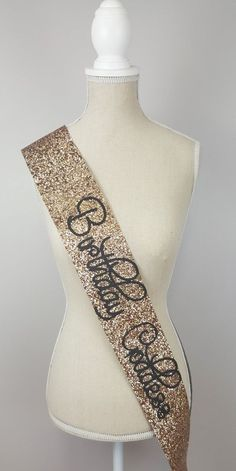 Birthday Sash   Birthday Goddess gold glitter by NoraKatie on Etsy