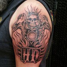 50 Fearless Outlaw Biker Tattoo Designs - For Brutal Men Biker themed Tattoo Inspiratitions. Old school vintage styled biker tattoos Biker themed Tattoo Inspiratitions. Old school vintage styled biker tattoos Forarm Tattoos, Skull Tattoos, Body Art Tattoos, Tribal Tattoos, Sleeve Tattoos, Tattoo Sleeves, Tatoos, Cowboy Tattoos, Daddy Tattoos