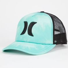 Hurley One   Only Womens Trucker Hat Turquoise One Size For Women  25111724101 Country Girls Outfits 103ef17445a