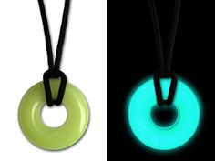 The UVO absorbs light while it hangs around your neck while you're expoloring. Once it gets dark the UVO will glow all night long...