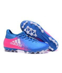 Adidas X 16.3 AG UMĚLOU TRÁVU modrý růžový bílá kopačky 77b09bb463453