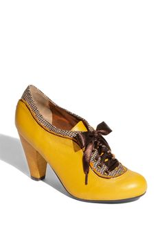 Yellow vintage shoes