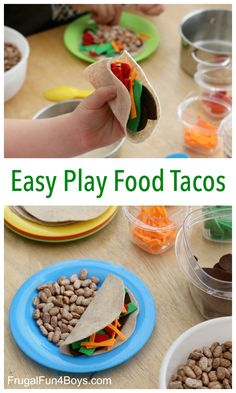 Let's Taco 'bout these awesome EASY play food tacos! No sew, easy DIY felt play food