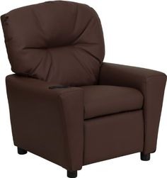 Kids' Recliners - Flash Furniture BT7950KIDBRNLEAGG Contemporary Brown Leather Kids Recliner with Cup Holder >>> Details can be found by clicking on the image.