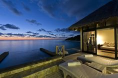 Architecture, Exquisite Modern Beach Houses Designs Of Beach House Iruveli–Maldives With Beautiful Landscape Sea View With Beach Lounge Excellent Poolside: Beach House in Various Designs According to Colors and Its Materials