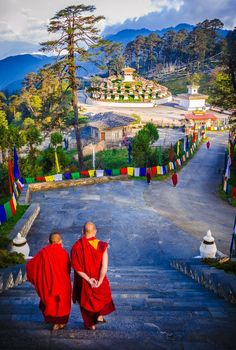 Monks in Tibet