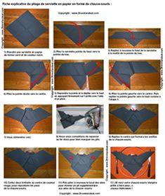 Pliage en papier r aliser un kimono en papier pliage de serviette de table en - Plier serviette de table ...