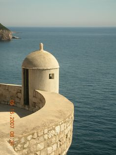 View from the wall surrounding Dubrovnik, Croatia