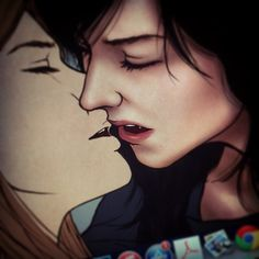 It would appear this board is being taken over by Carmilla.  I REGRET NOTHING. Carmilla And Laura, Carmilla Series, Life Is Strange Fanart, Vox Machina, Lesbian Art, Yuri, Good Night Moon, Cute Gay, Stargazing
