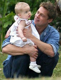 Brad Pitt with daughter Shiloh ~ 2006
