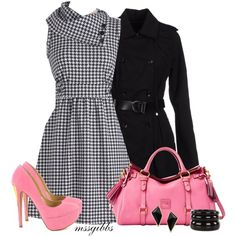 Pink and Houndstooth :)