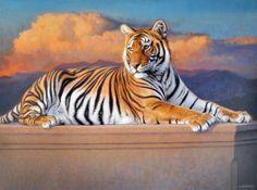 """Tiger: """"I'm on Cloud Nine!""""                          By: Gabriel Hermida."""