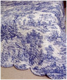 French Toile - I have one similar except the blue print is on pale yellow. I love it.