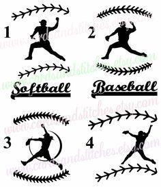 Baseball Vinyl Decal - Softball Vinyl Decal - Pitcher Decal OR Pitcher Iron-on Transfer - Baseball Iron-on - Softball Iron-on - DIY Iron-on by cardsandstitches on Etsy