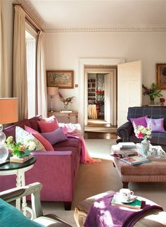 A Vibrant English Country Home