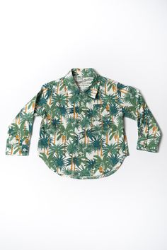 The Long Sleeve Hopper Shirt | White Palms https://18waits.com/collections/spring-summer-2017/products/hopper-hunter-long-sleeve-hopper-shirt-white-palms