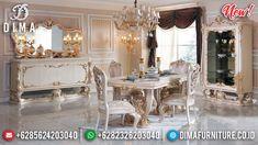 Set Meja Makan Jepara Mewah Ukiran Luxury Classic Sultan DF-1324