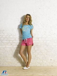 Russell Athletic Summer 2013 Ladies Collection #Russell #Athletic  #Russellbrands #Authentic #American #SportsWear #Apparel #Summer  #Collection #Sports #Wear #Sweatshirt #Womanswear Russell Athletic, Summer Collection, Sportswear, Bra, Running, American, Sweatshirts, Lady, How To Wear