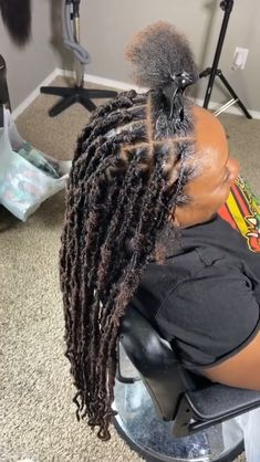 Faux Locs Hairstyles, Black Girl Braided Hairstyles, Twist Braid Hairstyles, Protective Hairstyles, Baddie Hairstyles, African Braids Hairstyles, My Hairstyle, Protective Styles, Wedding Hairstyles