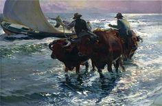 Bulls in the Sea - Joaquín Sorolla - Completion Date: 1903
