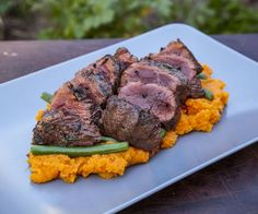 Australia is one of the few countries that eat their coat of arms.If you haven't tried Kangaroo before you need to because it has a beautiful rich flavor and. Weber Bbq Recipes, Meat Recipes, Dinner Recipes, Game Recipes, Dinner Ideas, Recipies, Kangaroo Meat Recipe, Pork Bacon, Baby Bjorn