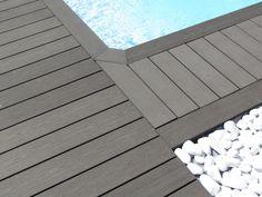 Découvrez nos réalisations en bois composite. Plage de piscine et galets, France - Terrasse habitation privative - Silvadec