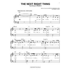 Kristen Bell 'The Next Right Thing (from Disney's Frozen Sheet Music, Notes & Chords Piano Sheet Music Letters, Sheet Music Notes, Music Sheets, Disney Songs, Disney Music, Easy Piano Songs, Note Sheet, Kids Piano, Violin Music