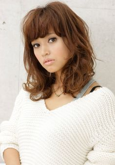 Sexy curly Japanese hairstyle 2012 - 2013