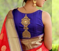 Top 10 Silk Saree Blouse Designs For This Diwali - Candy Crow Hand Work Blouse Design, Blouse Back Neck Designs, Silk Saree Blouse Designs, Stylish Blouse Design, Fancy Blouse Designs, Bridal Blouse Designs, Blouse Patterns, Silk Sarees, Net Saree