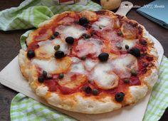 Pizza alla puttanesca con patate e mozzarella ,ricetta senza glutine con farina Polselli.